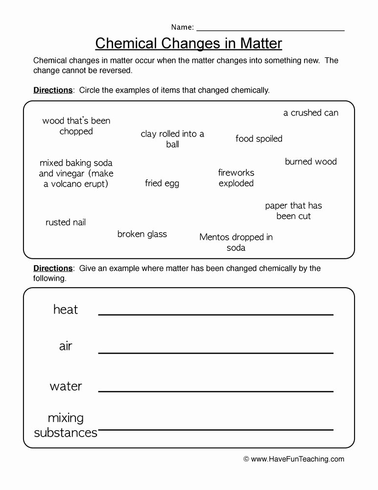 Changes In Matter Worksheet Best Of Matter Worksheets