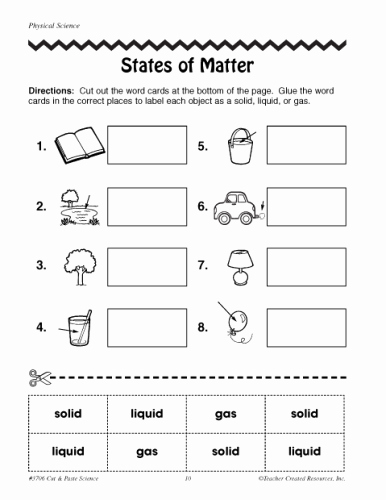 Changes In Matter Worksheet Best Of States Of Matter Worksheets 2nd Grade Science