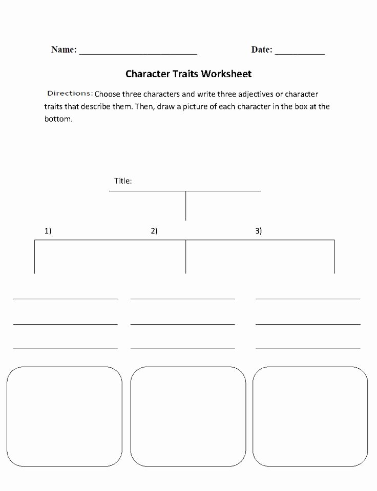 Character Traits Worksheet 3rd Grade Beautiful Character Traits Character Analysis Worksheet