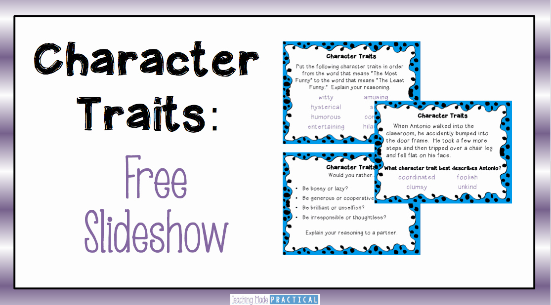 Character Traits Worksheet 3rd Grade Beautiful Teaching Character Traits Low Prep Activities Teaching