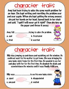 Character Traits Worksheet 3rd Grade Elegant Character Traits Activity 2nd 3rd or 4th Grade by Ms