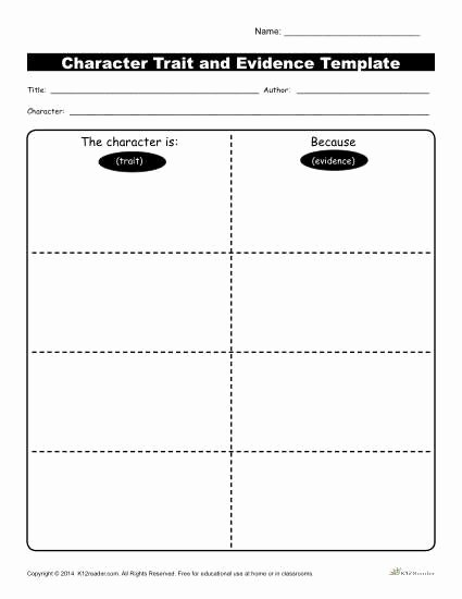 Character Traits Worksheet 3rd Grade Elegant Character Traits Workshsheets K12