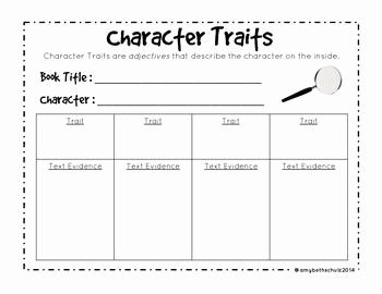 Character Traits Worksheet 3rd Grade Fresh Character Traits Freebie Character Traits