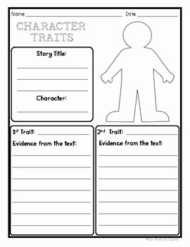 Character Traits Worksheet 3rd Grade Fresh Character Traits Graphic organizer Worksheet by Your