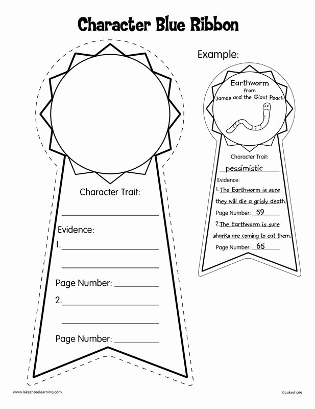 Character Traits Worksheet 3rd Grade Fresh Reading Lesson Josh S Clinical Portfolio