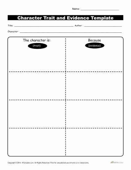 Character Traits Worksheet 3rd Grade Inspirational Character Trait Worksheet