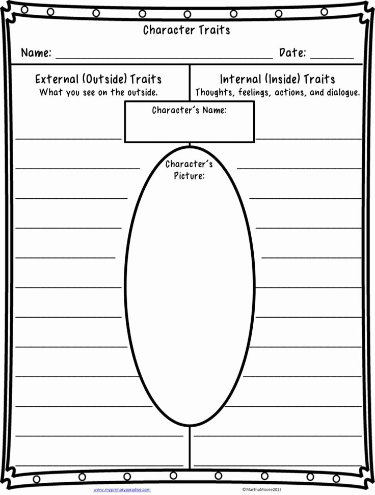Character Traits Worksheet 3rd Grade New Quite A Character Teaching Character Traits