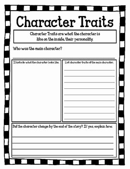 Character Traits Worksheet 3rd Grade New Third Grade Character Traits Worksheets Third Best Free