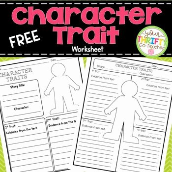 Character Traits Worksheet Pdf Best Of Character Traits Graphic organizer Worksheet by Your