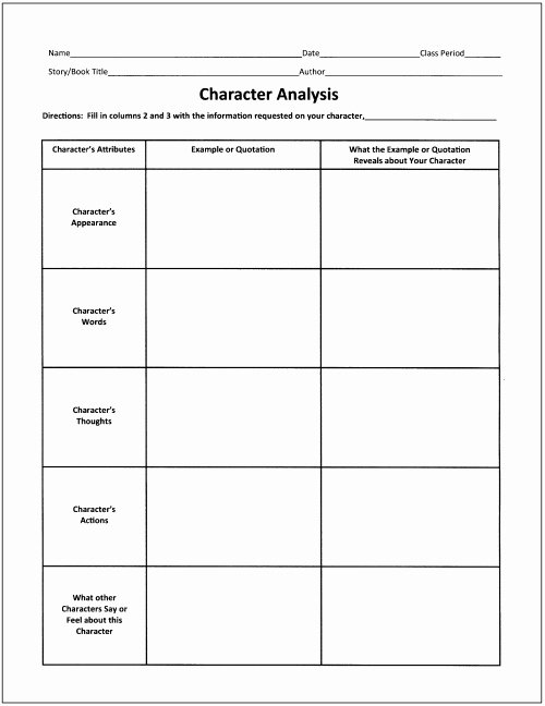 Character Traits Worksheet Pdf Best Of Free Graphic organizers for Teaching Literature and Reading