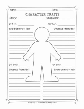 Character Traits Worksheet Pdf Fresh Character Traits Graphic organizer Worksheet