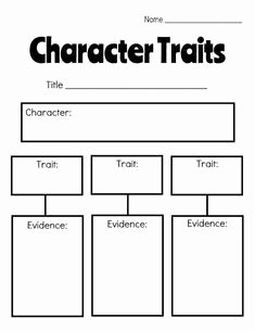 Character Traits Worksheet Pdf Fresh Character Traits Worksheet Pdf School tools