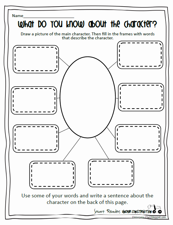 Character Traits Worksheet Pdf Fresh Peterson S Pad Smart Readers Under Construction