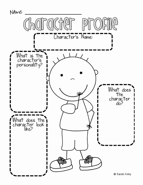 Character Traits Worksheet Pdf Inspirational Boy Character Profile Pdf School Stuff