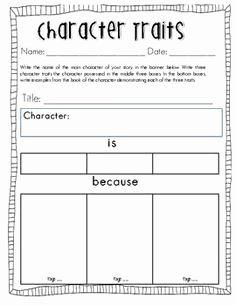 Character Traits Worksheet Pdf Luxury Character Traits Worksheet Pdf School tools