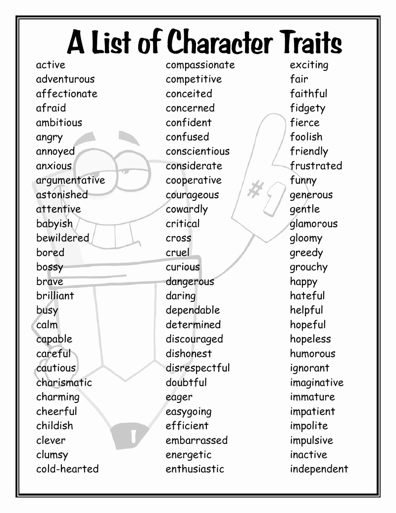 Character Traits Worksheet Pdf Luxury Writing Blog Period 3 Analyzing Character Due 11 10