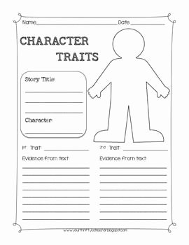 Character Traits Worksheet Pdf New Character Traits Graphic organizer Worksheet