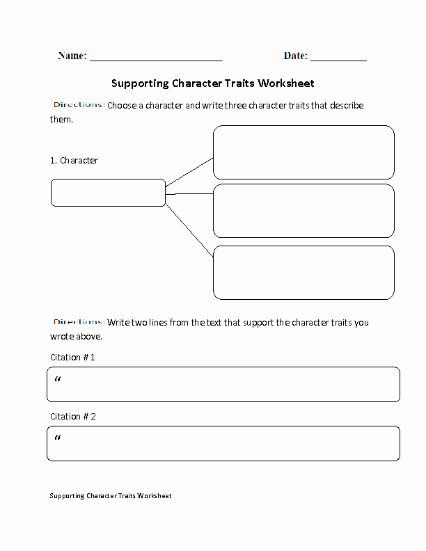Character Traits Worksheet Pdf Unique Englishlinx