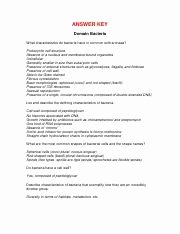 Characteristics Of Bacteria Worksheet Elegant Domains Kingdoms Worksheet Answer Key Answer Key