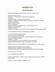 Characteristics Of Bacteria Worksheet Elegant Domains Kingdoms Worksheet Answer Key Answer Key