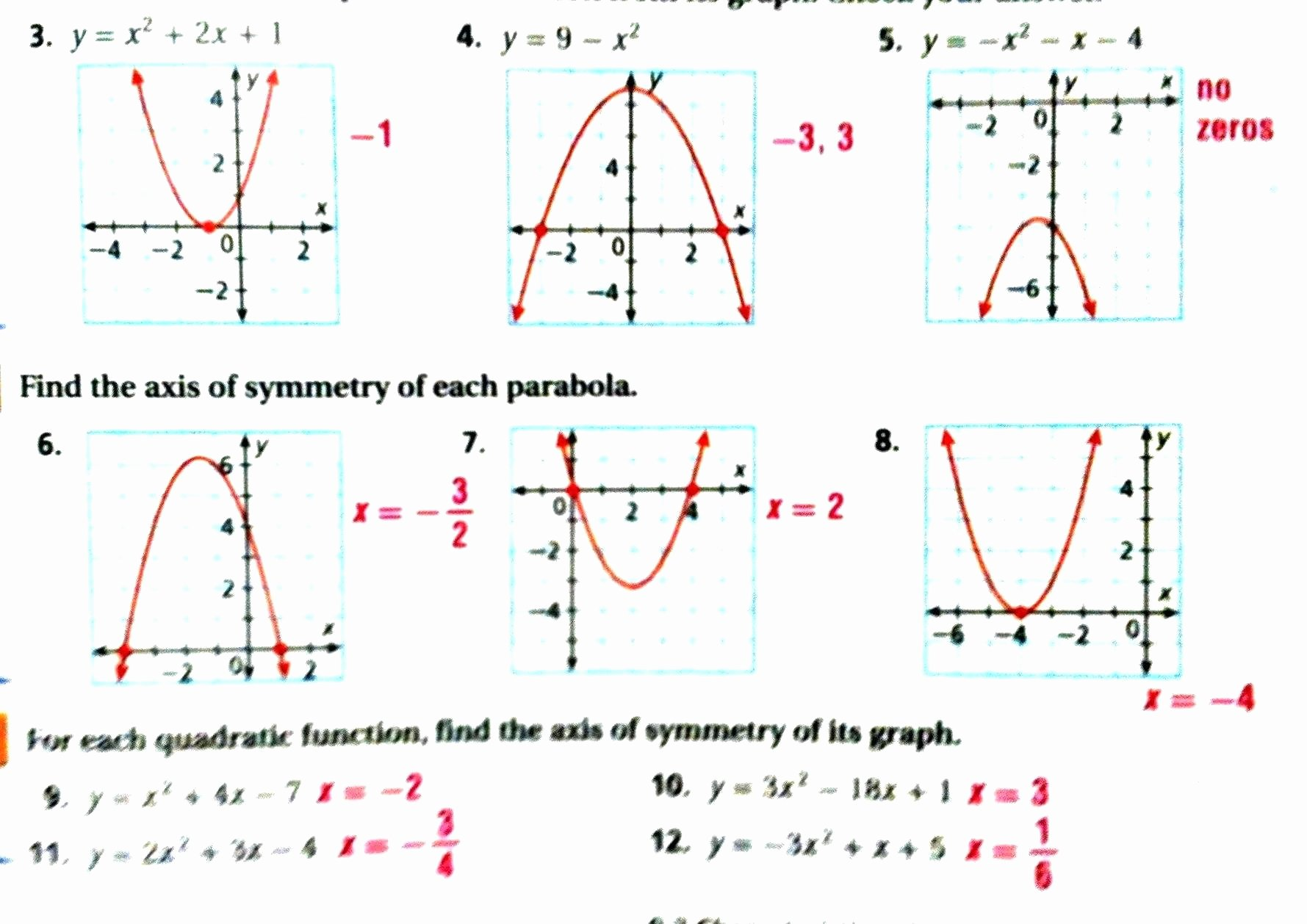 Characteristics Of Functions Worksheet Fresh Characteristics Quadratic Functions New Worksheet