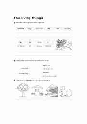 Characteristics Of Functions Worksheet Inspirational English Worksheets Living Things Vital Functions