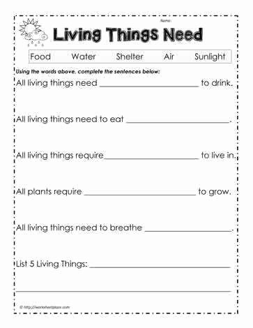 Characteristics Of Life Worksheet Fresh Characteristics Living Things Worksheet