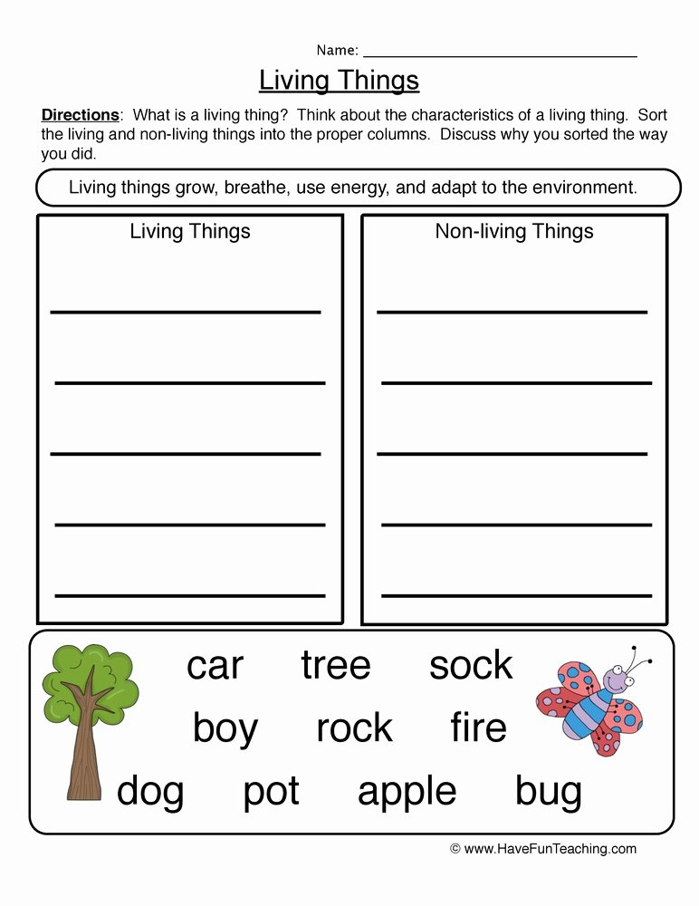 Characteristics Of Living Things Worksheet Lovely Fun and Engaging Science Characteristics Living Things