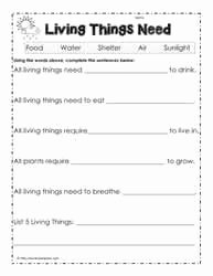 Characteristics Of Living Things Worksheet Luxury Characteristics Of Living Things Worksheets