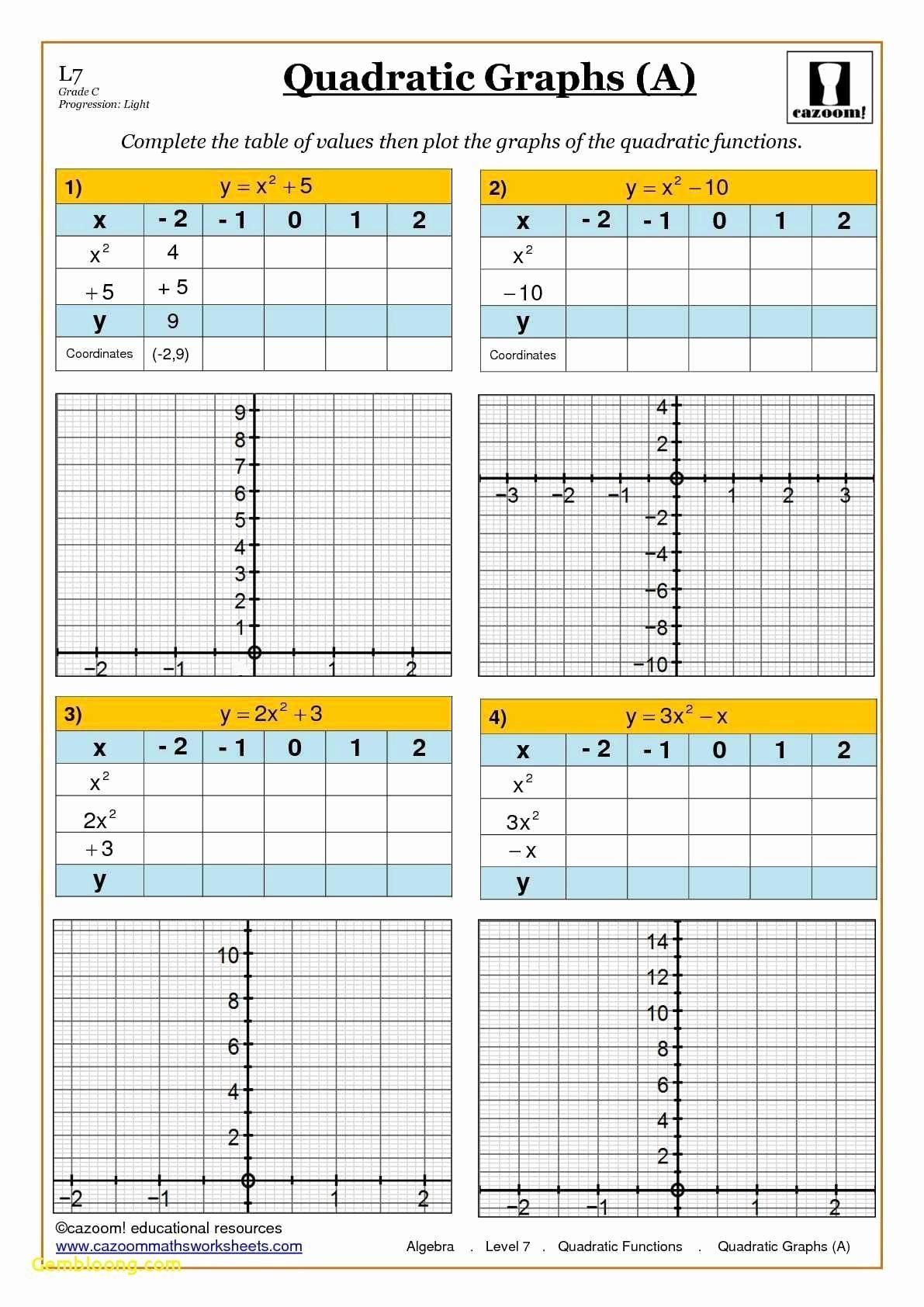 Characteristics Of Quadratic Functions Worksheet Awesome Characteristics Quadratic Functions New Worksheet