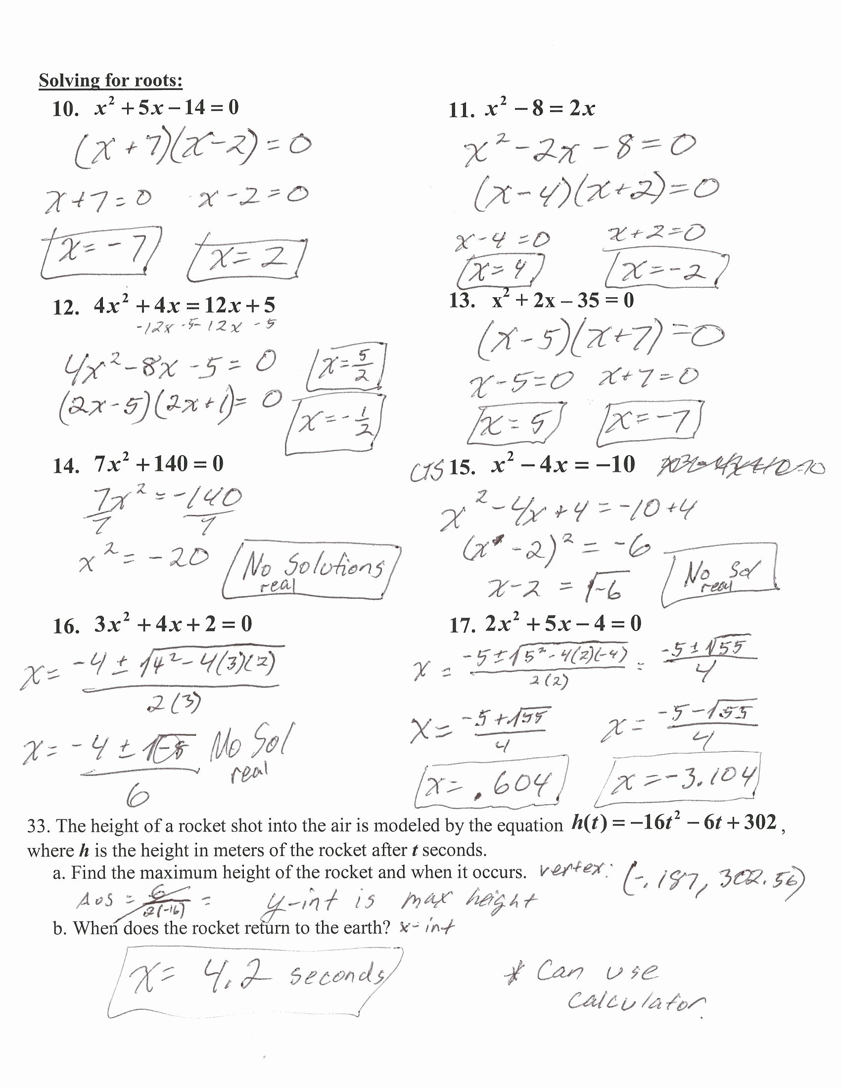Characteristics Of Quadratic Functions Worksheet Inspirational Characteristics Quadratic Functions New Worksheet