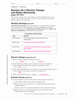 Charge and Electricity Worksheet Answers Awesome Studylib Essys Homework Help Flashcards Research