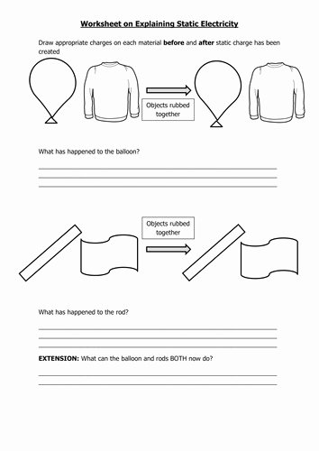 Charge and Electricity Worksheet Answers Beautiful Static Electricity Worksheet
