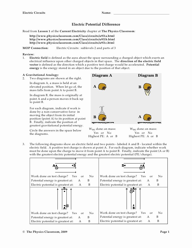 Charge and Electricity Worksheet Answers New Circuit Worksheets