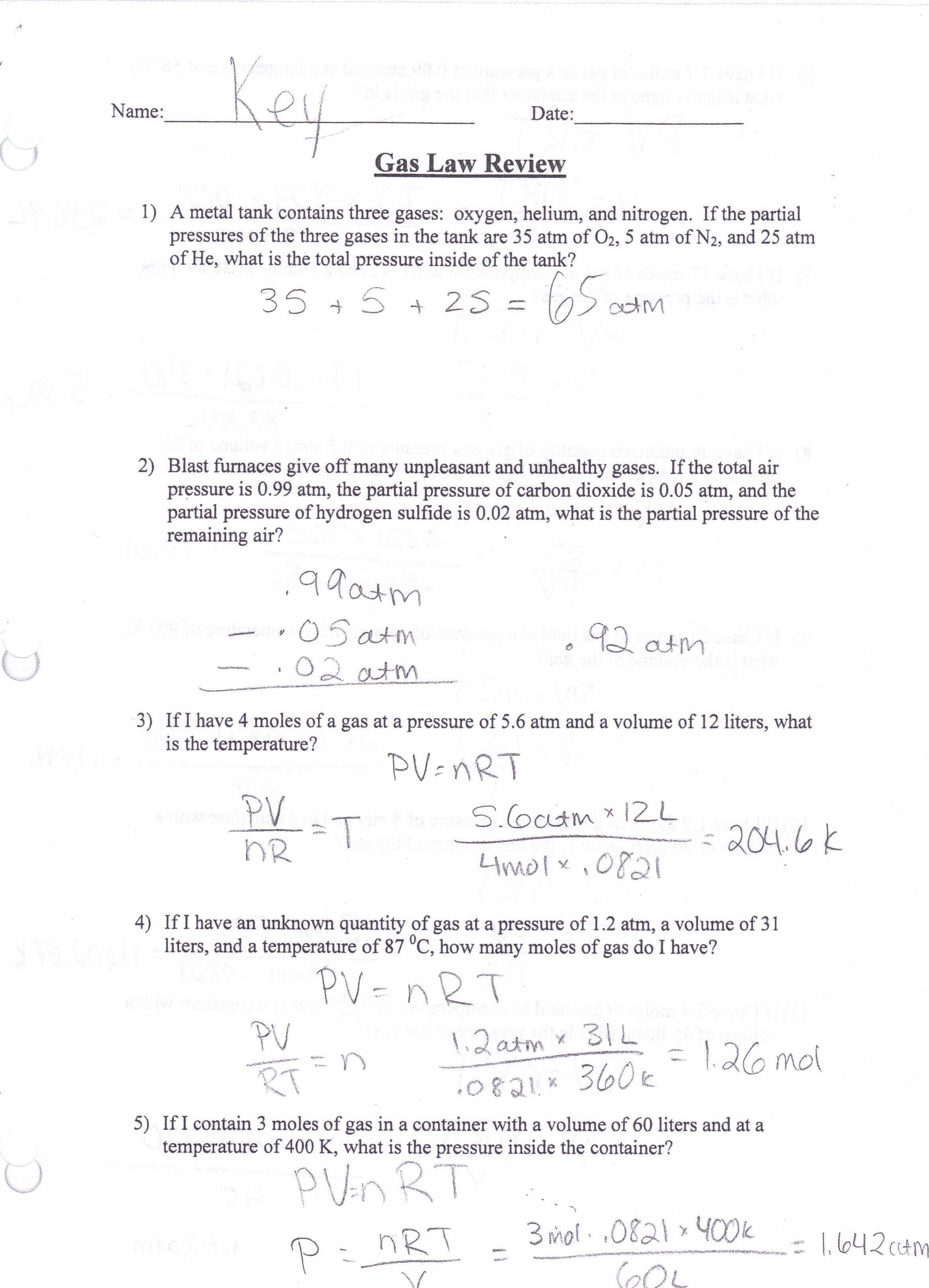 Charles Law Worksheet Answers Awesome Worksheet Charles Law Worksheet Answers Worksheet Fun