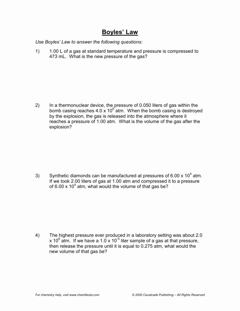 Charles Law Worksheet Answers Unique Boyle S Law Practice Worksheet Livinghealthybulletin