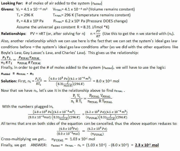 Charles Law Worksheet Answers Unique Ideal Gas Law Worksheet Answers