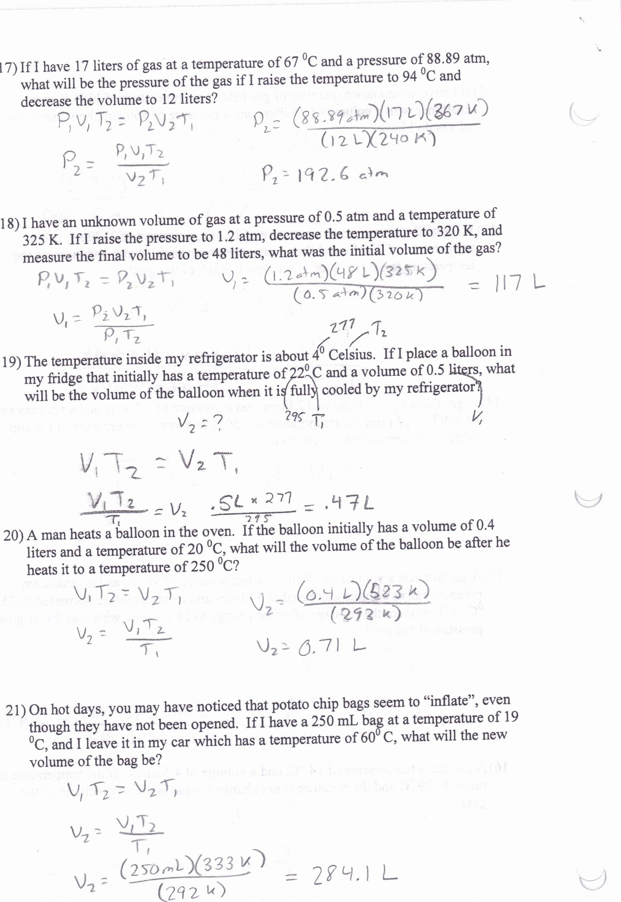 Charles Law Worksheet Answers Unique Worksheet Charles Law Worksheet Answers Worksheet Fun
