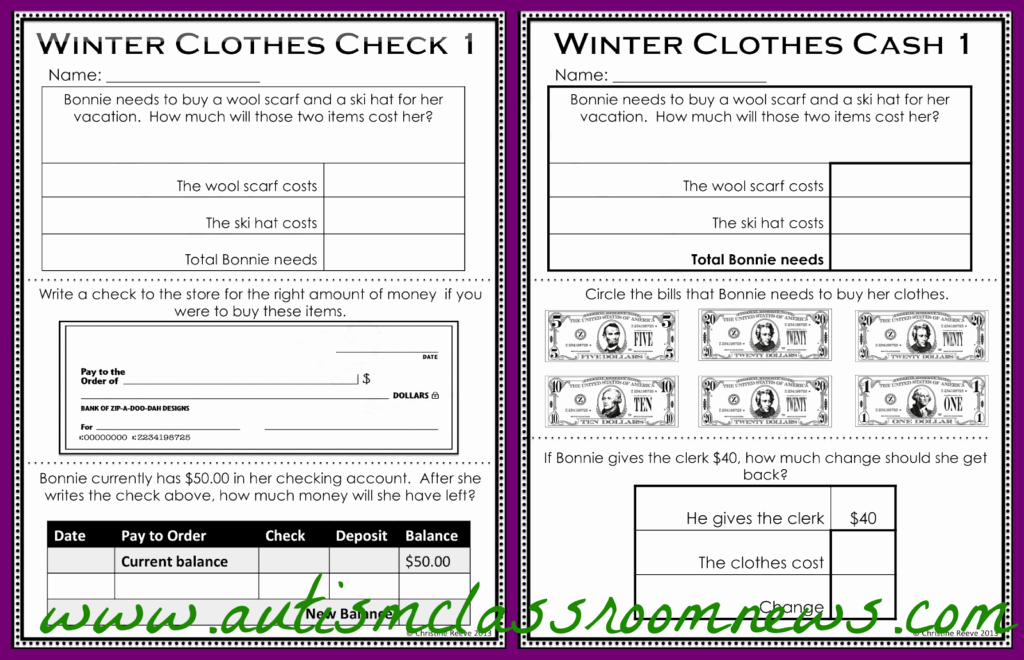 Checkbook Register Worksheet 1 Answers Beautiful the Economics Of Shopping Functional Literacy and Math