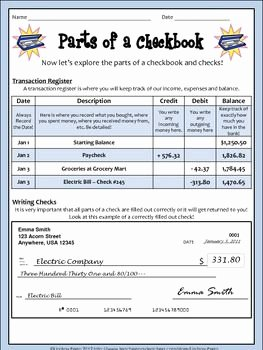 Checkbook Register Worksheet 1 Answers Fresh Real World Math Checkbook Lesson and Activity