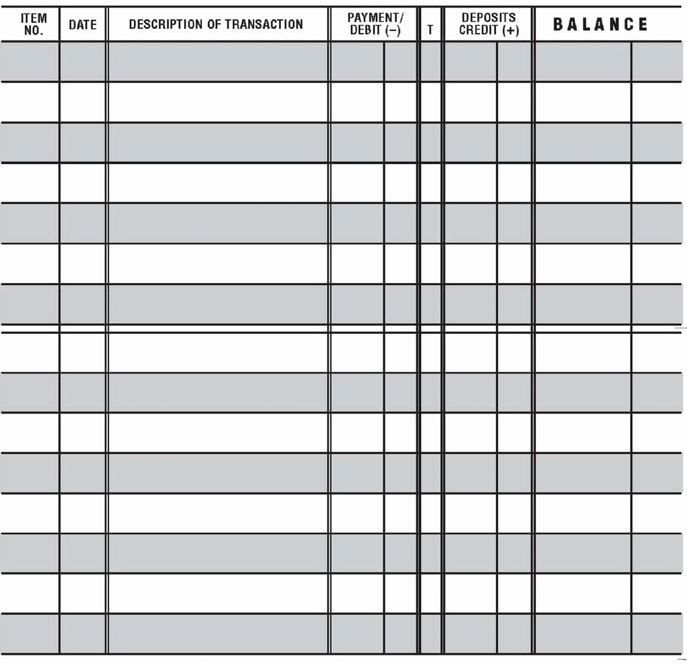 Checkbook Register Worksheet 1 Answers New 20 Easy to Read Checkbook Transaction Register Large Print