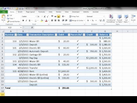 Checkbook Register Worksheet 1 Answers Unique Create A Checkbook Register In Excel