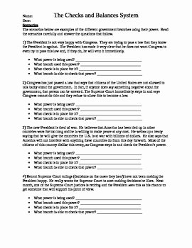 Checks and Balances Worksheet Answers Elegant Checks and Balances Worksheets by 2nd Chance Works