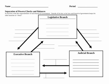 Checks and Balances Worksheet Answers Elegant Seperation Of Powers Graphic organizer by Mr Tracey