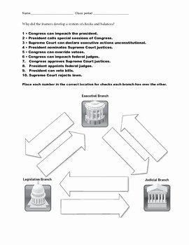 Checks and Balances Worksheet Answers Luxury Checks and Balances Worksheet by Inspires Learning