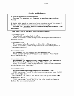 Checks and Balances Worksheet Answers Unique 6 Basic Principles Worksheet