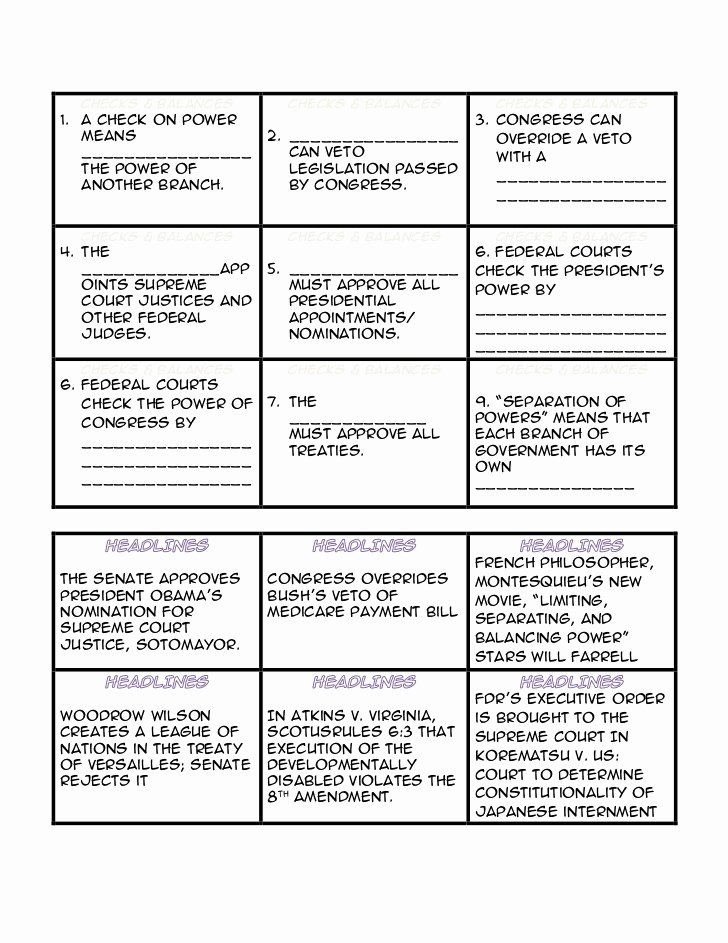 Checks and Balances Worksheet Answers Unique Worksheet Checks and Balances Geo Kids Activities