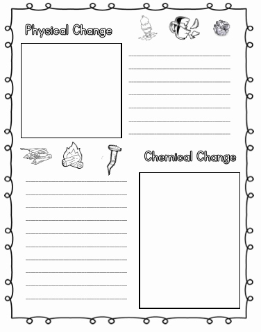Chemical and Physical Change Worksheet Awesome Physical and Chemical Changes Tj Homeschooling