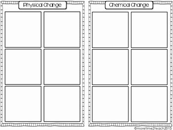Chemical and Physical Change Worksheet Fresh Physical Vs Chemical Change Free Cut & Paste Activity