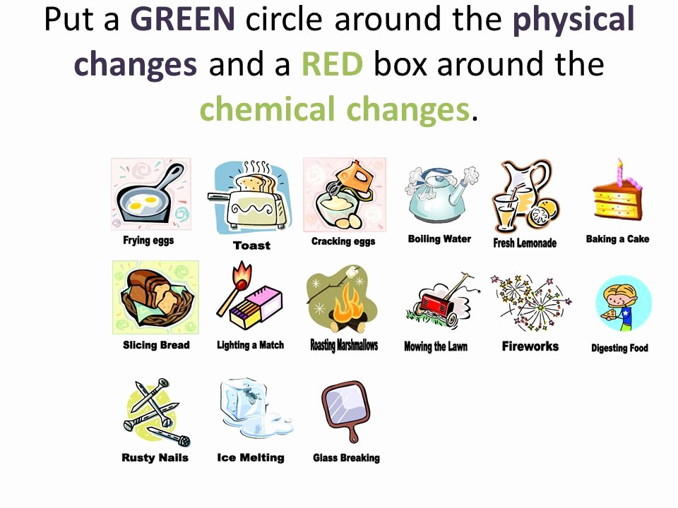 Chemical and Physical Change Worksheet Lovely Chemical Change Clipart Collection